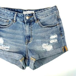High waisted Denim Jean shorts High Rise